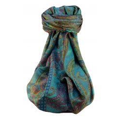 Mens Jamawar Premium Silk Scarf Pattern 8529 by Pashmina & Silk