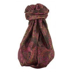 Mens Jamawar Premium Silk Scarf Pattern 8819 by Pashmina & Silk