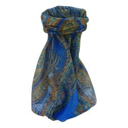 Echarpe Traditional Soie de Mûrier CHATUR BLUE