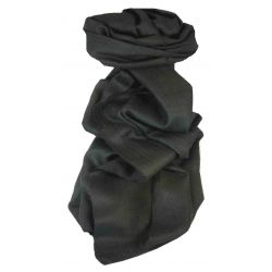 MENS Fine Cashmere Scarf Black by Pashmina & Silk
