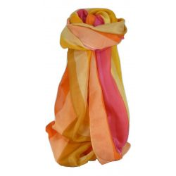 Mulberry Silk Classic Long Scarf Asmar Rainbow Palette by Pashmina & Silk