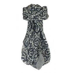 Mulberry Silk Classic Square Scarf Amba Black & White by Pashmina & Silk