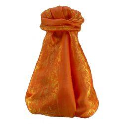 Vietnamese Silk Scarf Reversible Hoi-An Fai-Fo Amber by Pashmina & Silk