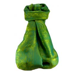 Vietnamese Silk Scarf Reversible Hoi-An Fai-Fo Jade by Pashmina & Silk