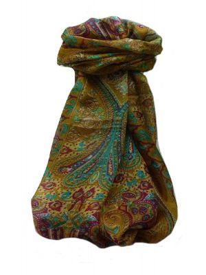 Mulberry Silk Traditional Long Scarf  Yaar Chestnut by Pashmina & Silk