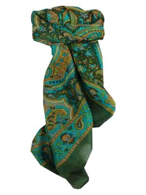 Mulberry Silk Traditional Square Scarf Kalinda Moss by Pashmina & Silk
