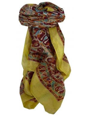 Mulberry Silk Traditional Square Scarf Har Primrose by Pashmina & Silk