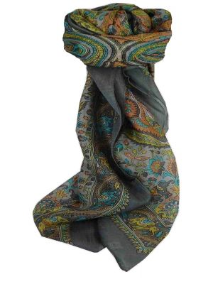 Mulberry Silk Traditional Square Scarf Dida Pearl by Pashmina & Silk