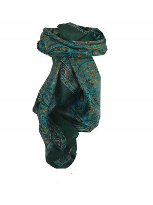 Mulberry Silk Traditional Square Scarf Dida Slate by Pashmina & Silk