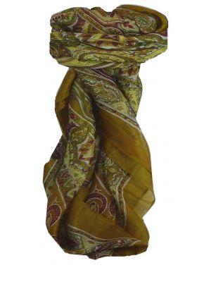 Mulberry Silk Traditional Square Scarf Chakori Caramel by Pashmina & Silk