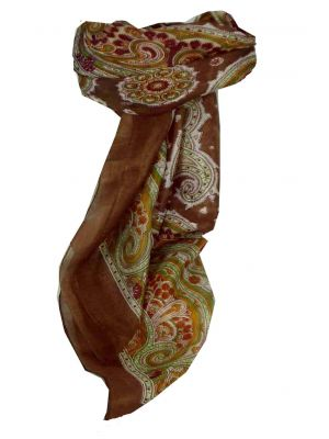 Mulberry Silk Traditional Square Scarf Aylin Caramel by Pashmina & Silk