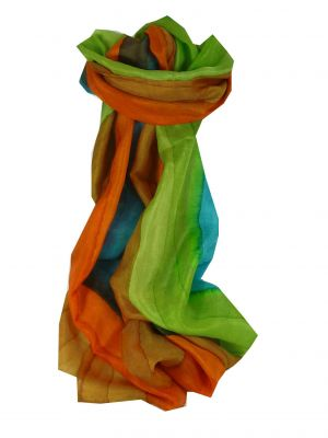 Mulberry Silk Hand Dyed Long Scarf Kaylan Rainbow Palette from Pashmina & Silk