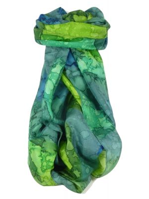 Mulberry Silk Hand Painted Long Scarf Classic Avocado by Pashmina & Silk