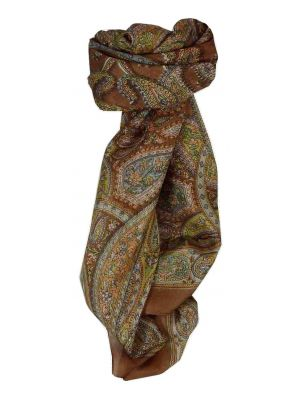 Mulberry Silk Traditional Square Scarf Corat Copper by Pashmina & Silk