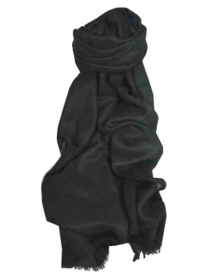 Pashtoosh Luxury Cashmere Shawl Black by Pashmina & Silk