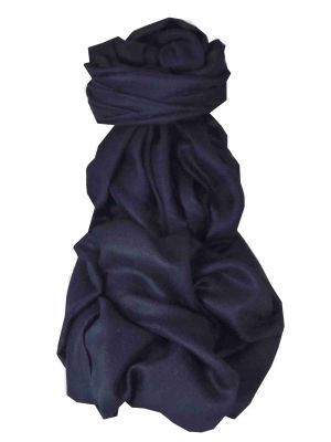 Pashtoosh Luxury Cashmere Shawl Very Dark Blue by Pashmina & Silk