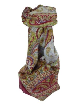 Mulberry Silk Traditional Long Scarf Safia Pink by Pashmina & Silk