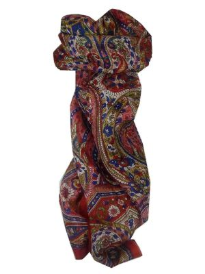 Mulberry Silk Traditional Long Scarf Sara Red by Pashmina & Silk