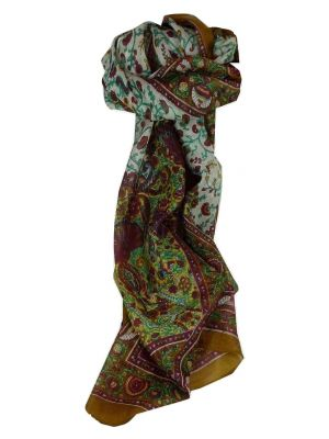 Mulberry Silk Traditional Long Scarf Sarika Caramel by Pashmina & Silk
