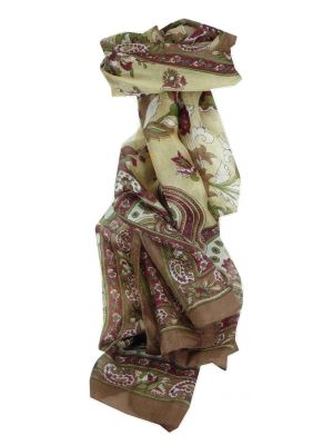 Mulberry Silk Traditional Long Scarf Ree Caramel by Pashmina & Silk
