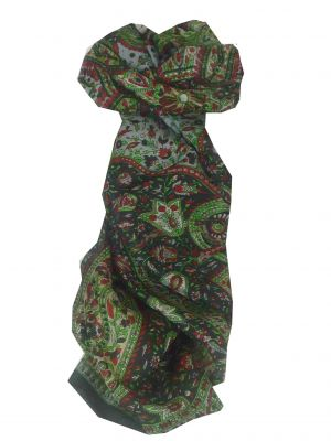 Mulberry Silk Traditional Long Scarf Reena Black by Pashmina & Silk