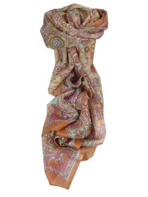 Mulberry Silk Traditional Long Scarf Kirin Copper by Pashmina & Silk