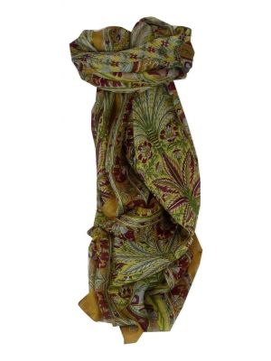 Mulberry Silk Traditional Long Scarf Kolva Gold by Pashmina & Silk