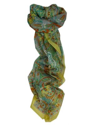 Mulberry Silk Traditional Long Scarf Kot Gold by Pashmina & Silk