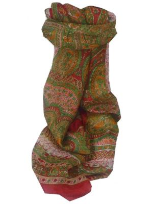 Mulberry Silk Traditional Long Scarf Kotta Rose by Pashmina & Silk