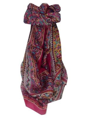 Mulberry Silk Traditional Long Scarf Lana Fuchsia by Pashmina & Silk
