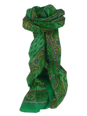 Mulberry Silk Traditional Long Scarf Lexi Green by Pashmina & Silk