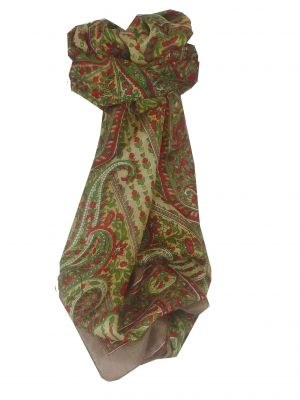 Mulberry Silk Traditional Long Scarf Lexi Caramel by Pashmina & Silk