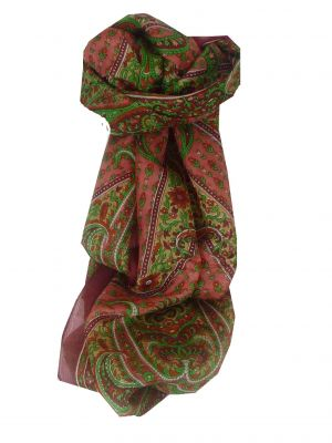 Mulberry Silk Traditional Long Scarf Lexi Red by Pashmina & Silk