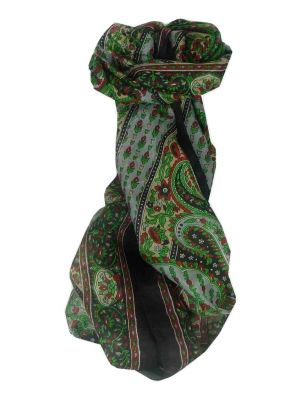 Mulberry Silk Traditional Long Scarf Lexi Black by Pashmina & Silk