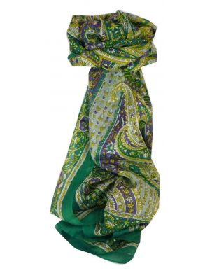 Mulberry Silk Traditional Long Scarf Kaur Teal by Pashmina & Silk