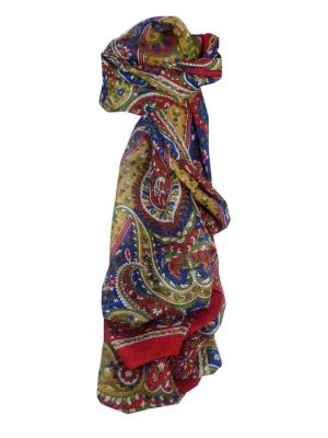 Mulberry Silk Traditional Long Scarf Kaur Red by Pashmina & Silk