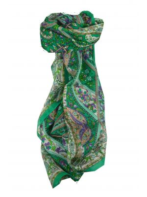 Mulberry Silk Traditional Long Scarf Giani Teal by Pashmina & Silk