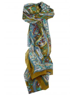 Mulberry Silk Traditional Long Scarf Giani Caramel by Pashmina & Silk