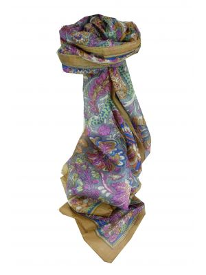 Mulberry Silk Traditional Long Scarf Dor Gold by Pashmina & Silk