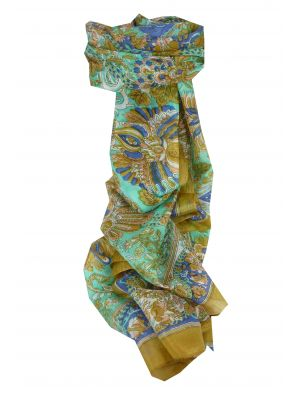 Mulberry Silk Traditional Long Scarf Dor Caramel by Pashmina & Silk