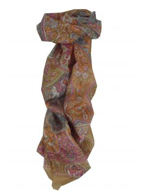 Mulberry Silk Traditional Long Scarf Eela Caramel by Pashmina & Silk