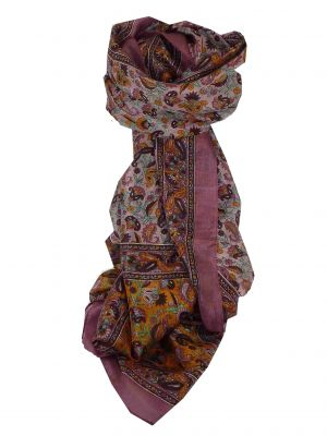 Mulberry Silk Traditional Long Scarf Cala Pink by Pashmina & Silk