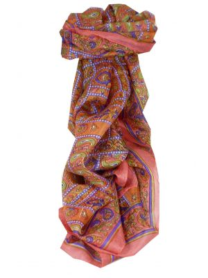 Mulberry Silk Traditional Long Scarf Chenab Blush by Pashmina & Silk
