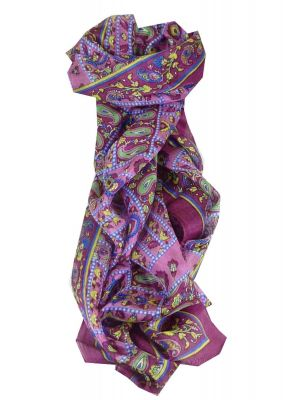 Mulberry Silk Traditional Long Scarf Chenab Carnation by Pashmina & Silk