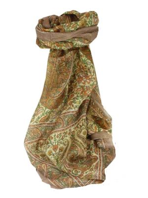 Mulberry Silk Traditional Long Scarf Purna Caramel by Pashmina & Silk