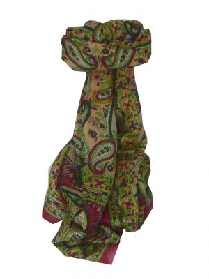 Mulberry Silk Traditional Long Scarf Chamba Rose by Pashmina & Silk