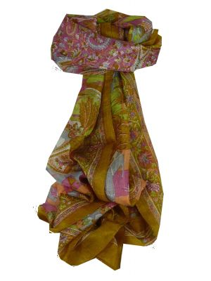 Mulberry Silk Traditional Long Scarf Bahan Gold by Pashmina & Silk