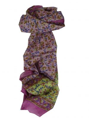 Mulberry Silk Traditional Long Scarf Aditi Rose by Pashmina & Silk