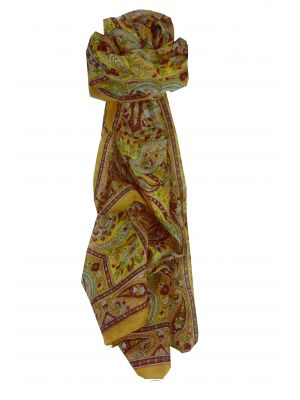Mulberry Silk Traditional Long Scarf Diya Gold by Pashmina & Silk