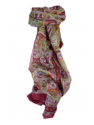 Mulberry Silk Traditional Long Scarf Chaya Red by Pashmina & Silk